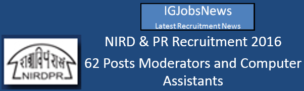 NIRD PR Current Vacancies June July 2016