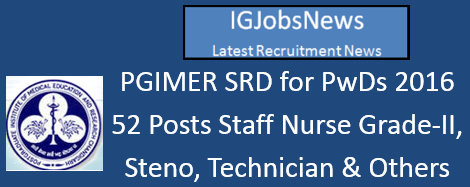 PGIMER Recruitment Notification
