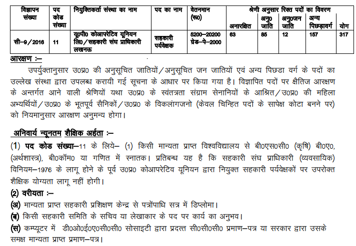 UP Seva Mandal Recruitment June 2016