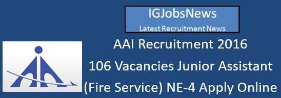 AAI Recruitment 2016_JrAsst(FS)ER-190716