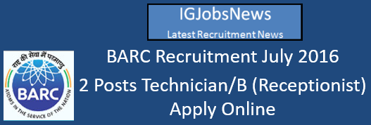 BARC Recruitment July 2016
