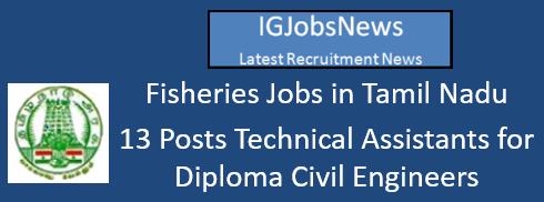 Fisheries Jobs in Tamil Nadu July 2016