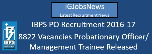 IBPS PO Recruitment 2016-17