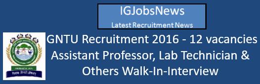 IGNTU Recruitment 2016 Walk-In-Interview August