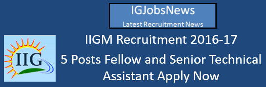 IIGM Recruitment 2016-17