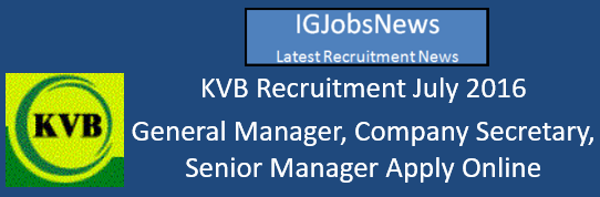 KVB Recruitment July 2016