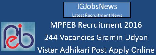 MPPEB Recruitment 2016