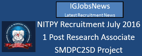NITPY Recruitment July 2016