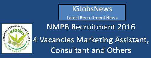 NMPB Recruitment 2016