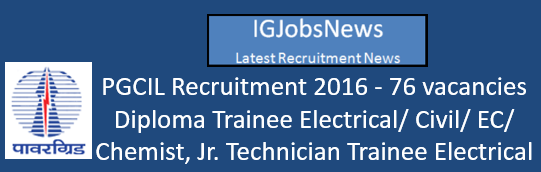 PGCIL Recruitment 2016 Diploma Trainee advertisement