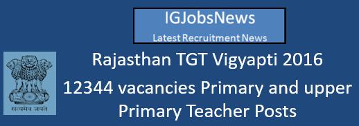 Rajasthan TGT Vigyapti 2016