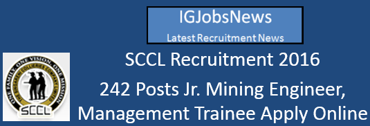 SCCL Recruitment 2016