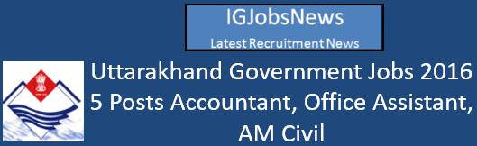 Uttarakhand Government Jobs 2016