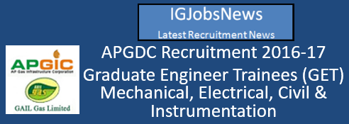 APGDC Recruitment 2016-17