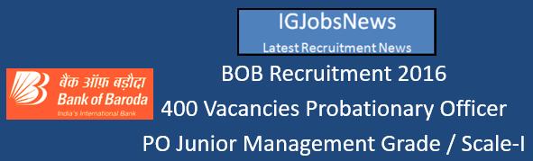BOB Recruitment 2016 Apply Online August