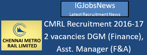 CMRL Recruitment 2016-17_s