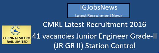 CMRL Recruitment August 2016_S