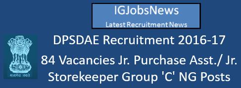DPSDAE Recruitment 2016-17
