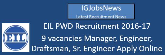 EIL PWD Recruitment 2016-17