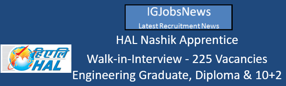 HAL Nashik Apprentice Walk-in-Interview August 2016