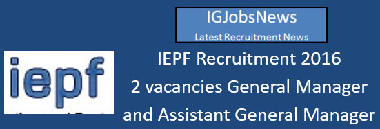 IEPF Recruitment 2016 August