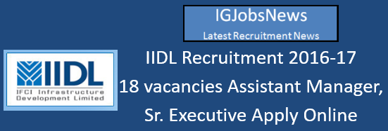 IIDL Recruitment 2016-17