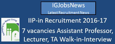 IIP-in Recruitment 2016-17