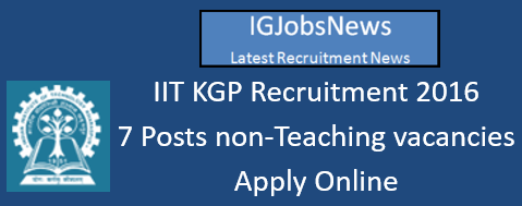 IIT KGP Recruitment 2016