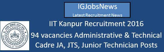 IIT Kanpur Recruitment 2016_August