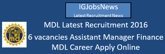 MDL Recruitment August 2016