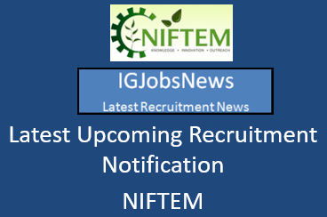 NIFTEM Recruitment