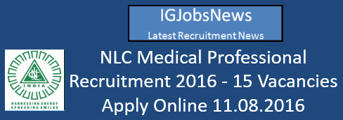 NLC Medical Professional Recruitment 2016_s