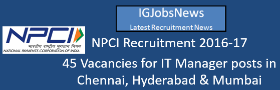 NPCI Recruitment 2016-17