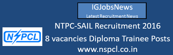 NTPC-SAIL Recruitment 2016