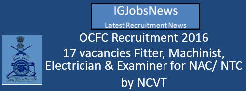 OCFC Recruitment August 2016