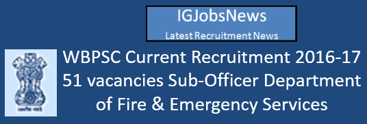 PSCWB Recruitment August 2016