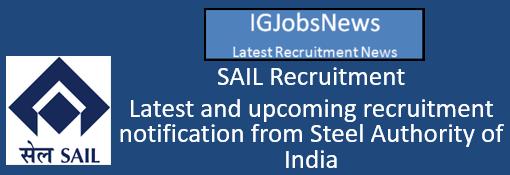 SAIL Recruitment Notification