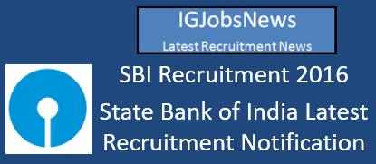 SBI Recruitment Notification