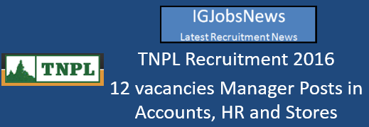 TNPL Recruitment 2016_August