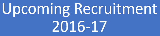 Upcoming Recruitment Notification 2016-17
