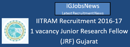 iitram-recruitment-september-2016