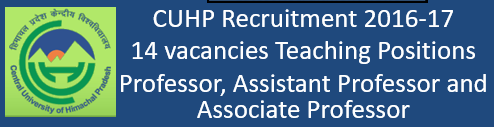 CUHP Recruitment October 2016
