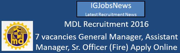 mazagondock-recruitment-october-2016