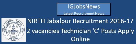 nirth-jabalpur-recruitment-october-2016