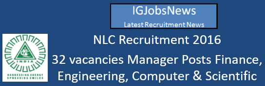 NLC Recruitment October 2016