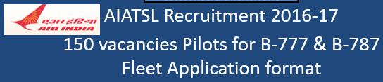 AIATSL Pilot Govt. Jobs 2016-17