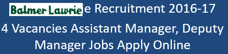Balmer Lawrie Govt. Jobs 2016-17
