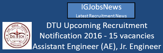 dtu-recruitment-notification-november-2016