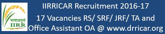 IIRR Hyderabad Govt. Jobs 2016-17