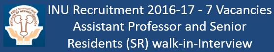 INU Bangalore Govt. Jobs 2016-17